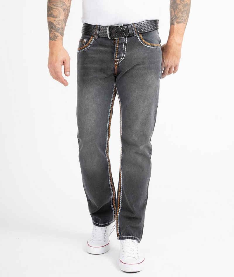 Rock Creek Straight-Jeans »Herren Jeans Comfort Fit dicke Nähte RC-2168«