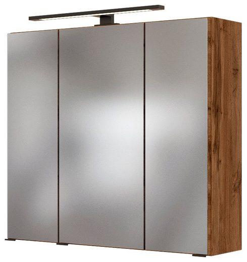 HELD MÖBEL Spiegelschrank »Luena«, Breite: 70 cm, mit LED-Beleuchtung
