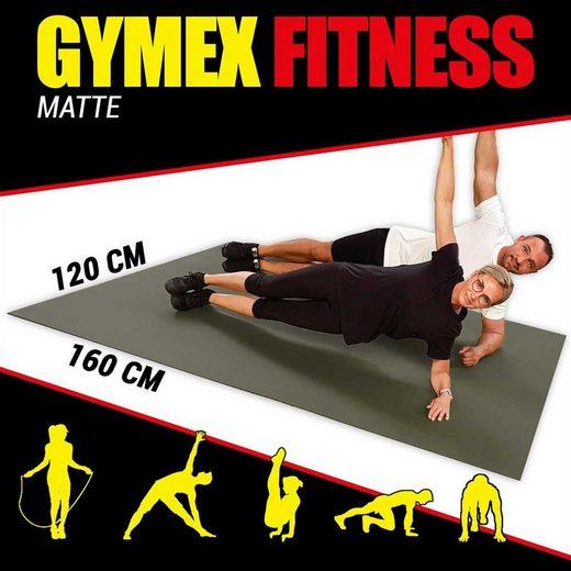 GYMEX Gymnastikmatte »GYMEX Fitness-Matte«, XXL extra groß, rollbar, für Yoga, Sport & Fitness