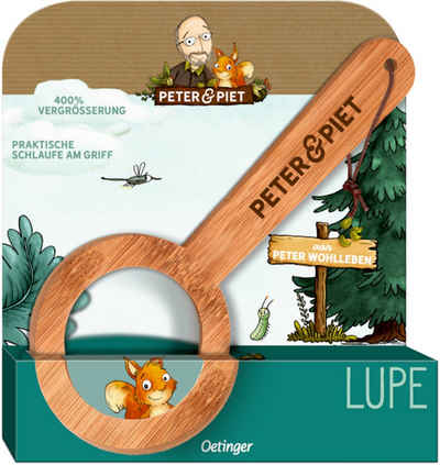 Oetinger Handlupe »Peter & Piet Bambus-Lupe«, Lupe