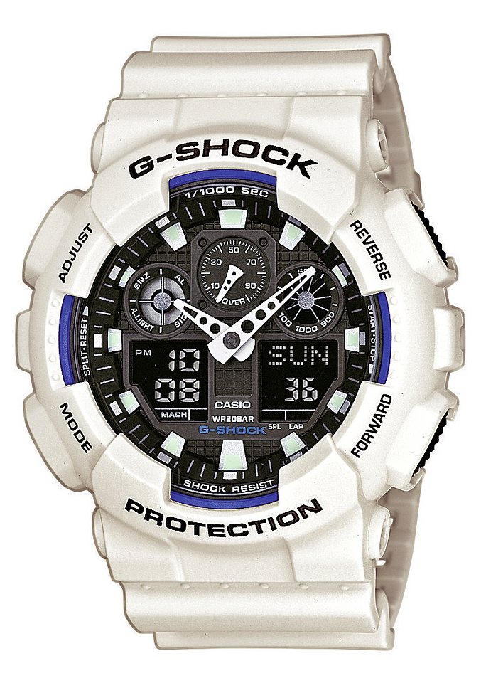 Casio G-Shock Chronograph »GA-100B-7AER« in weiß