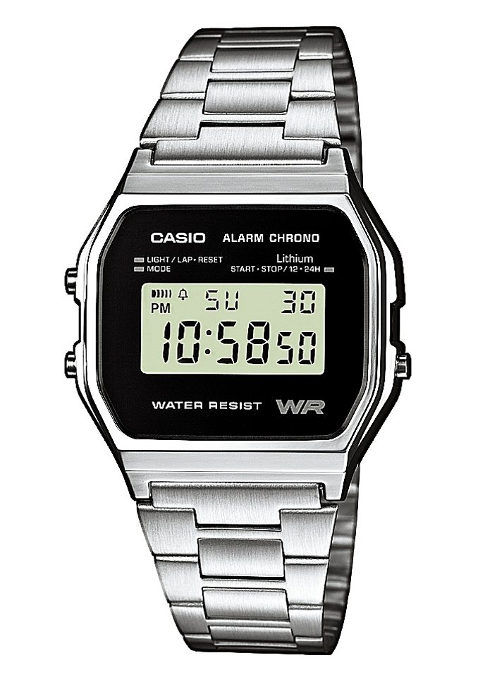 Casio Collection Chronograph »A158WEA-1EF« in silberfarben