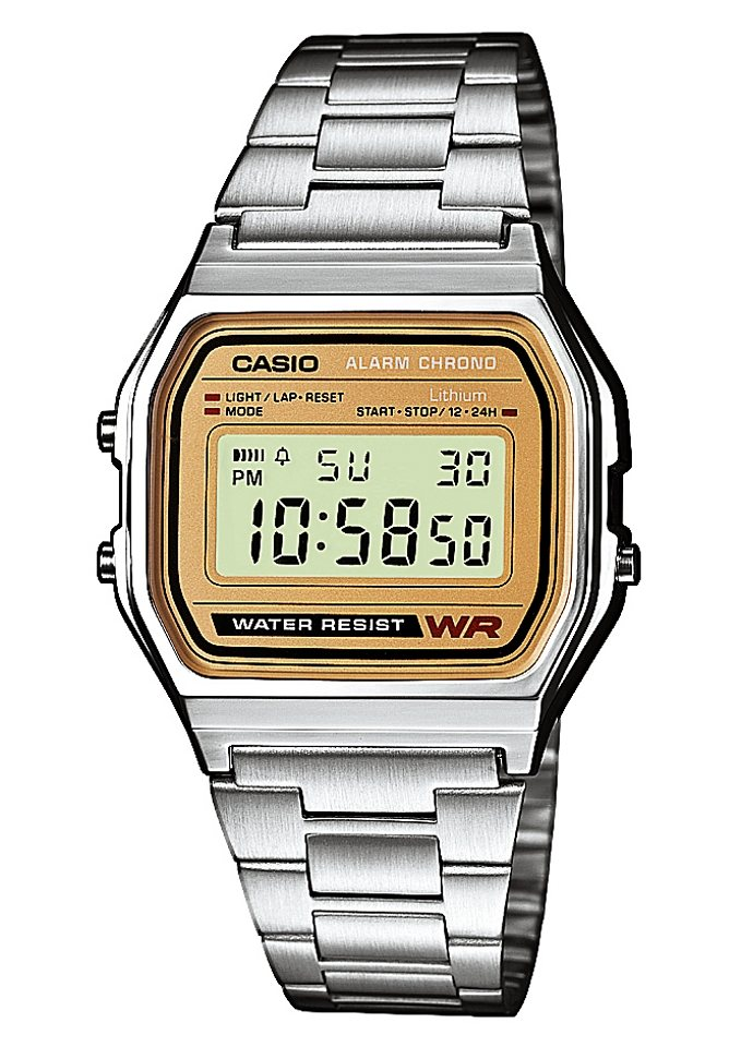 Casio Collection Chronograph »A158WEA-9EF« in silberfarben