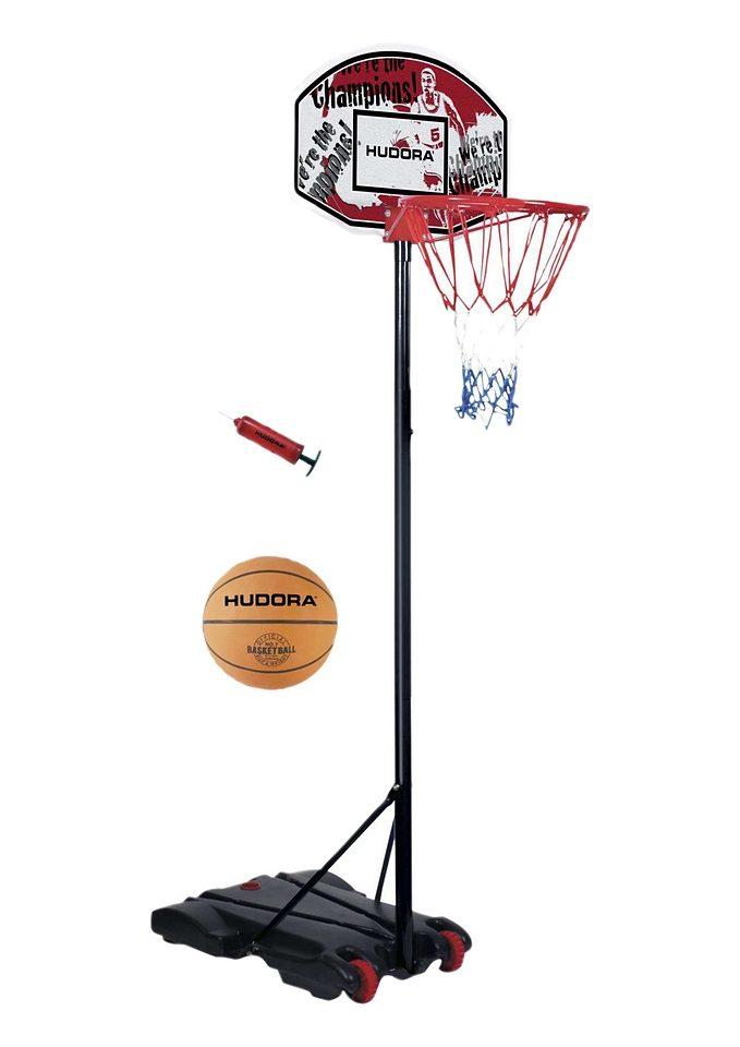SET: Basketballständer mit Ball und Pumpe, Hudora