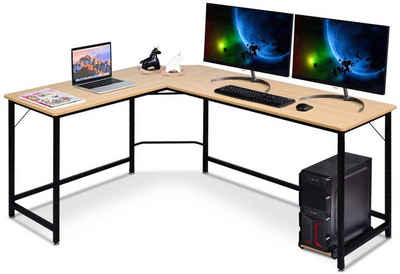 COSTWAY Eckschreibtisch »Computertisch Schreibtisch Bürotisch«
