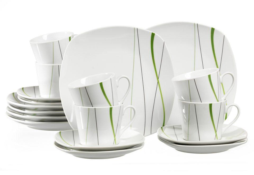 Ritzenhoff & Breker Kaffeeservice, Porzellan, »GRACE« (18-teilig)