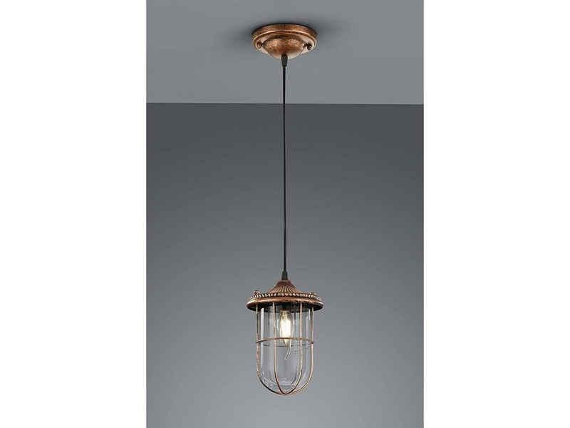 TRIO LED Pendelleuchte, im Industrial-Style Schiffslaternen über Esstisch-lampe, Industrie-Design, Vintage, Retro, Hänge-lampe, Esszimmer, für Küchen-Theke, Koch-insel, Galerie