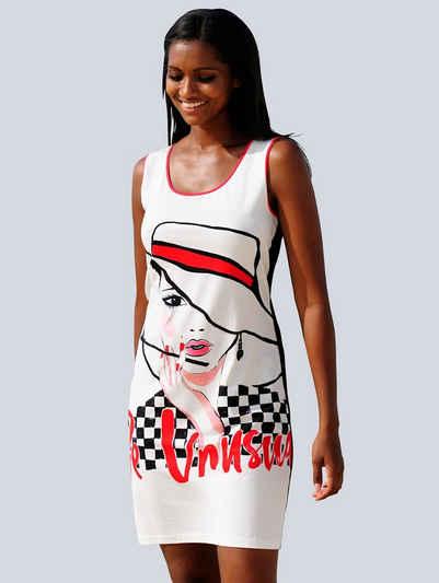 Alba Moda Strandkleid mit Frontdruck