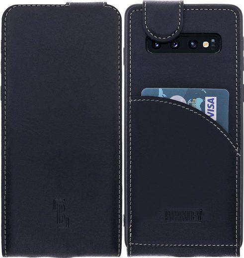 Burkley Flip Case »Samsung Galaxy S10 Plus Leder Handyhülle Klapphüll«