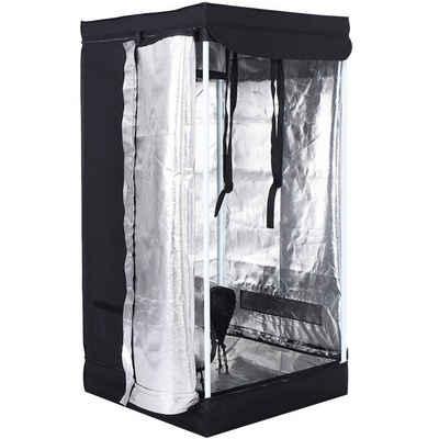 COSTWAY Pflanztunnel »Growbox, Darkroom, Pflanzenzucht, Gewächszelt«, 60x60x120 cm