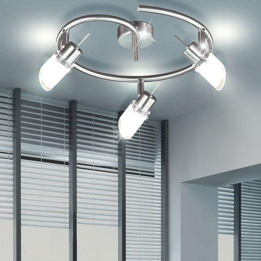 WOFI Deckenspot, LED Decken Strahler beweglich Spots Leuchte Lampe sparsam Beleuchtung IP20 Licht