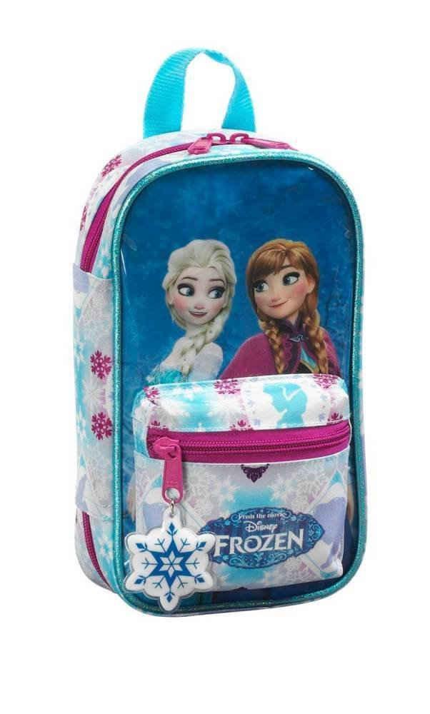 Disney Frozen Federmäppchen »Disney Frozen - Die Eiskönigin - Federmäppchen Rucksack, 33-teilig«, (33-tlg., Mädchen), Reißverschluss