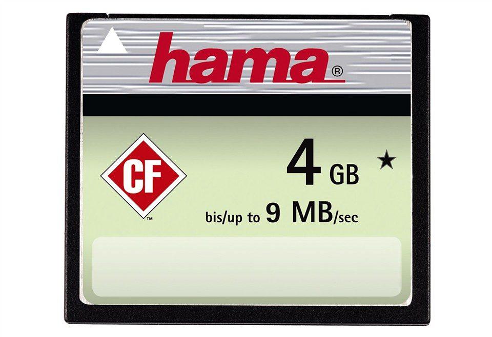 Hama Speicherkarte CompactFlash 4GB, 9 MB/s