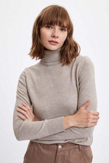 DeFacto Rollkragenpullover »DeFacto Damen Pullover REGULAR FIT HALF TURTLE«