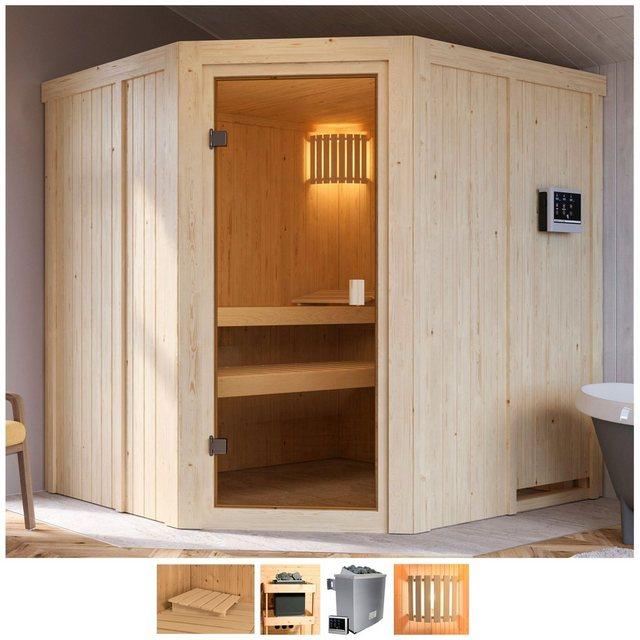 Saunen und Zubehör - Karibu Sauna »Hilda«, BxTxH 196 x 178 x 198 cm, 68 mm, 4,5 kW Ofen mit ext. Steuerung  - Onlineshop OTTO