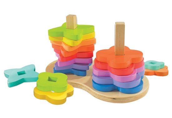 Hape Steckspielzeug, (Set, 19-tlg), aus Holz
