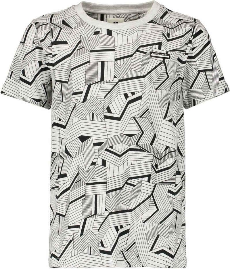 Garcia T-Shirt »G13402 - 625-white melee 1« mit allover Print