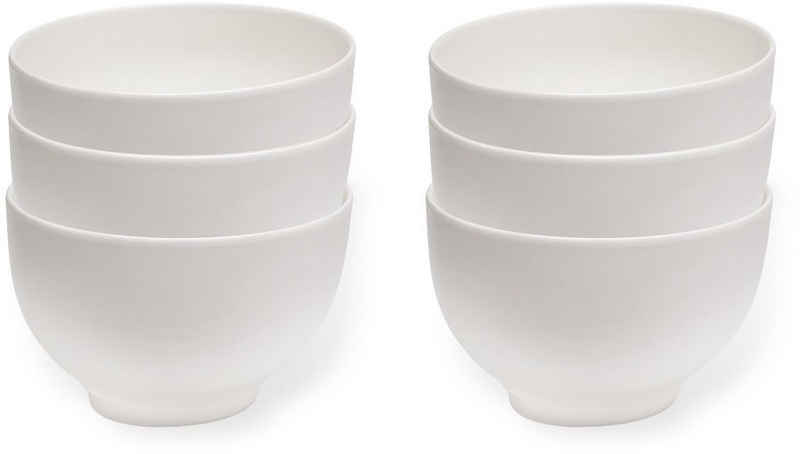 vivo Villeroy & Boch Group Schüssel »Basic White«, Porzellan, (Set, 6-tlg), 750 ml