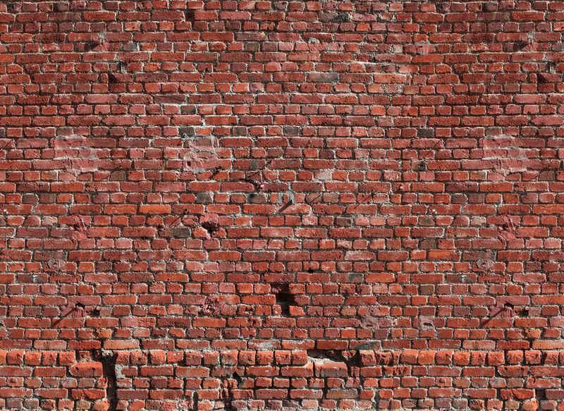 living walls Fototapete »Designwalls Brick Red«, glatt, (5 St)