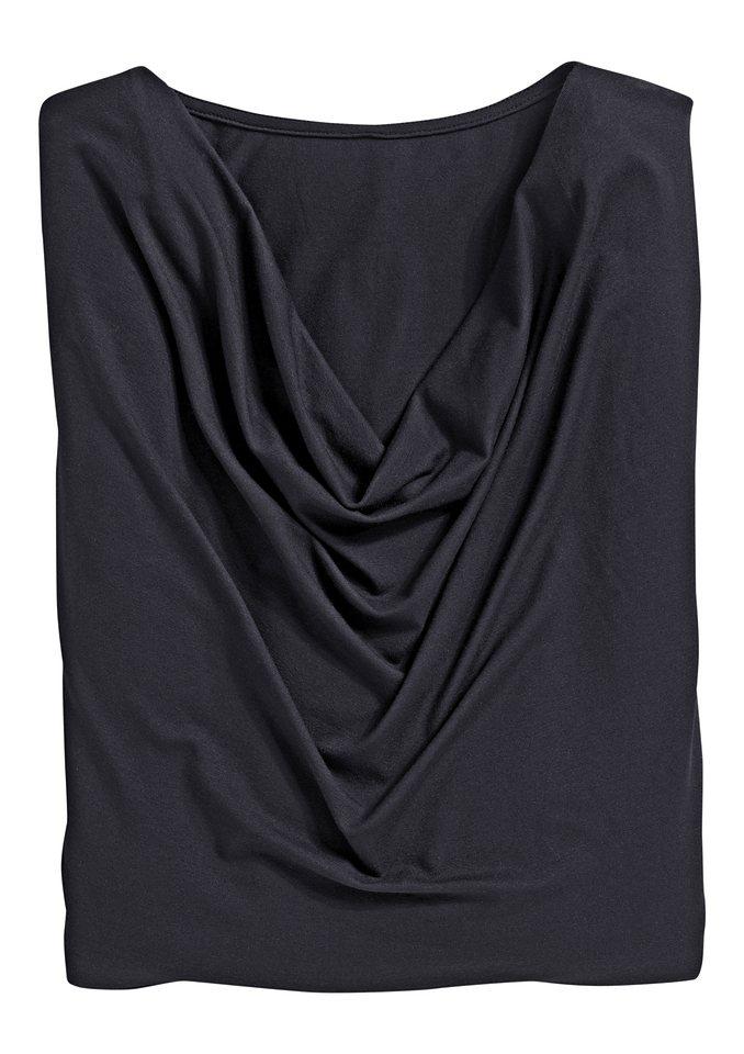 Classic Inspirationen Shirt mit eingesetzten Ärmel in schwarz