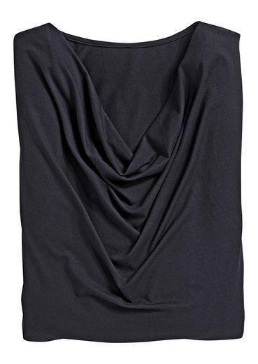 Classic Inspirationen Shirt mit reizvollem Wasserfall-Ausschnitt