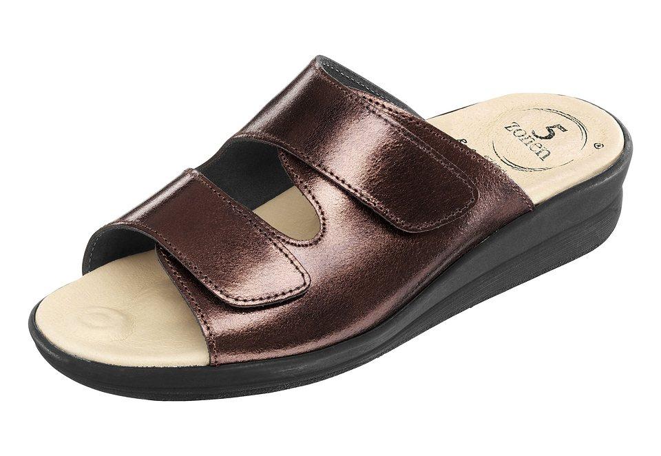 Pantolette mit 5-Zonen-Fußbett | Schuhe > Clogs & Pantoletten > Pantoletten | Gelb | Pu
