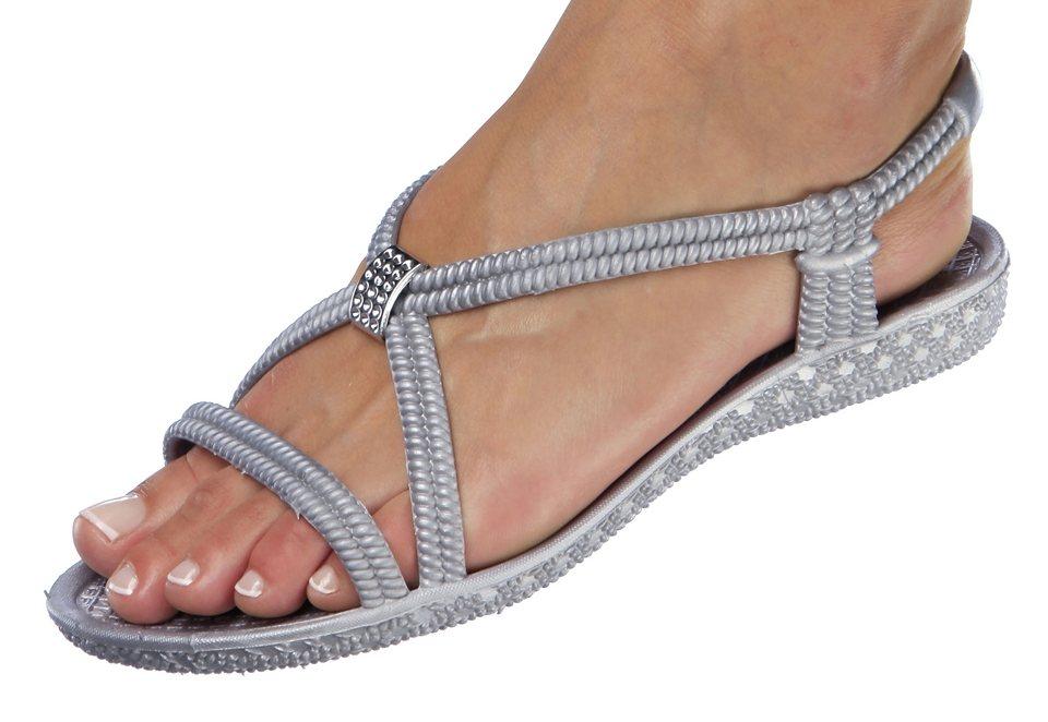 Siebi´s® Bade-Sandalette mit Zier-Applikation in grau