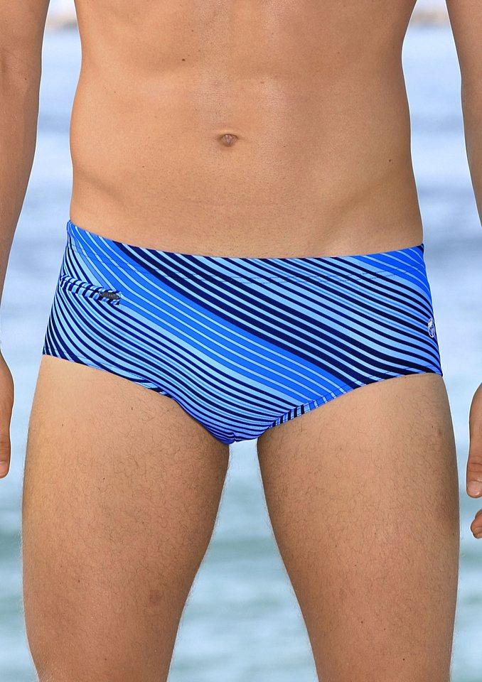 Badehose, Palm Beach in marine-blau