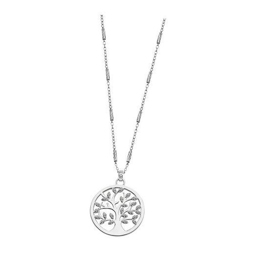 LOTUS SILVER Kette mit Anhänger »JLP1892-1-1 LOTUS Silver Lebensbaum Halskette« (Halsketten), Halsketten für Damen 925 Sterling Silber, weiß, silber