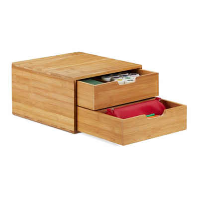relaxdays Schubladenbox »Schubladenbox Bambus«