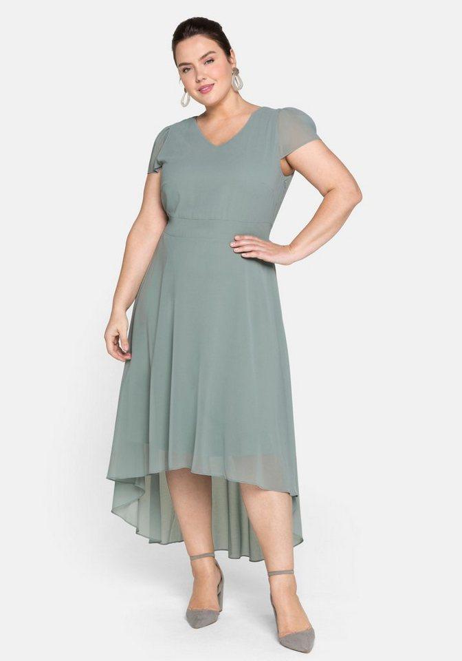 Festtagsmode - Sheego Abendkleid mit Flügelärmeln › grün  - Onlineshop OTTO