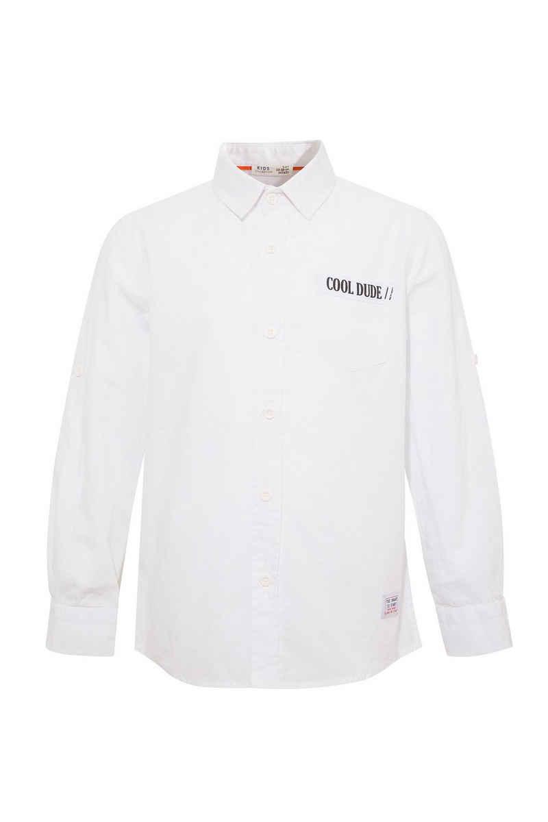 DeFacto Hemd »Junge Langarm-Shirt Smart Polo Neck Shirt REGULAR«