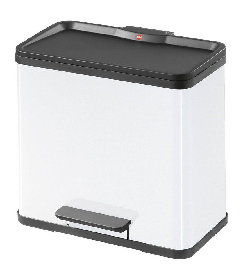 Tret-Abfallsammler »Trento Öko Duo 30«, 19+11 Liter in weiß
