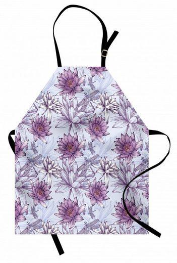 Abakuhaus Kochschürze »Höhenverstellbar Klare Farben ohne verblassen«, Natur Wasser-Lilien und Drogonflies