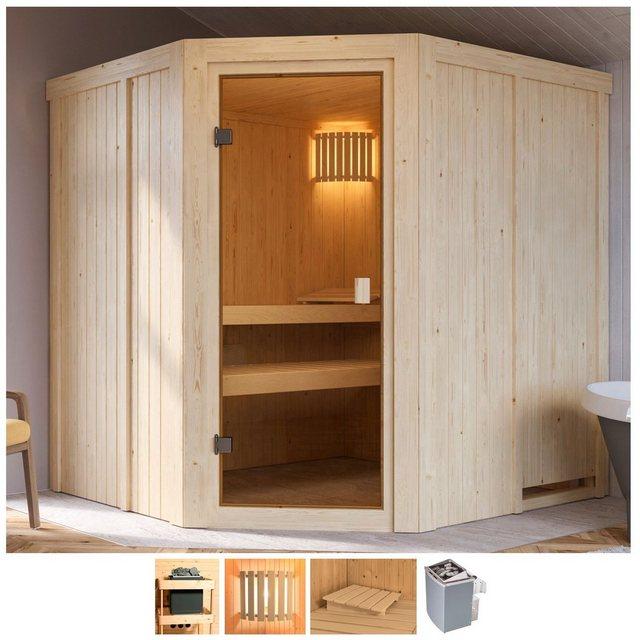 Saunen und Zubehör - Karibu Sauna »Hilda«, BxTxH 196 x 178 x 198 cm, 68 mm, 4,5 kW Ofen mit int. Steuerung  - Onlineshop OTTO