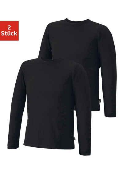 H.I.S Langarmshirt (2er-Pack) aus Baumwolle