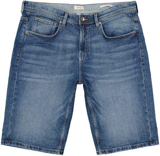 Esprit Jeansshorts mit authentischer Waschung