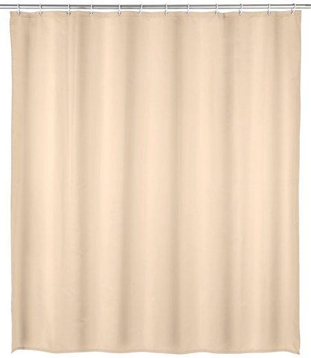 WENKO Duschvorhang »Uni« Breite 180 cm, Höhe 200 cm, Textil (Polyester)