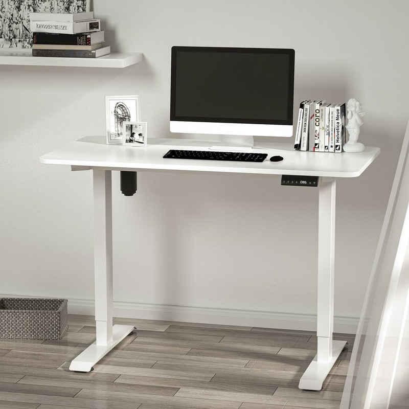 Yulukia Schreibtisch »YULUKIA Elektronischer Höhenverstellbarer Schreibtisch, Gaming Tisch, Workstation, mit 120*60CM Tischplatte«