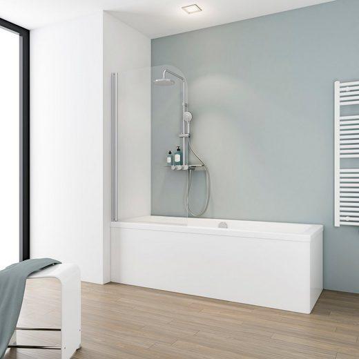 Schulte Badewannenfaltwand »Komfort«, Einscheibensicherheitsglas, (2 tlg)