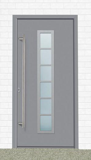 KM MEETH ZAUN GMBH Aluminium-Haustür »A04«, BxH: 108x208 cm, grau, in 2 Varianten