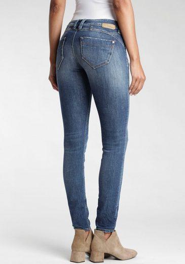 GANG Skinny-fit-Jeans »Nikita« mit den gekreuzten Gürtelschlaufen links vorne