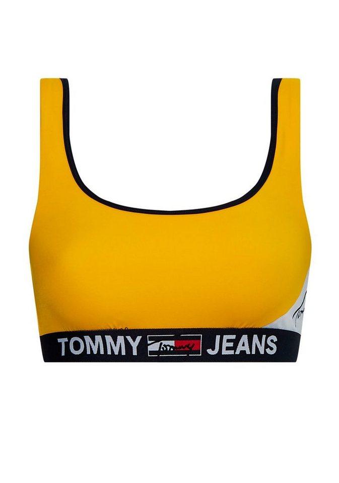 Bademode - TOMMY HILFIGER Bustier Bikini Top, mit elastischem Band unter der Brust › gelb  - Onlineshop OTTO