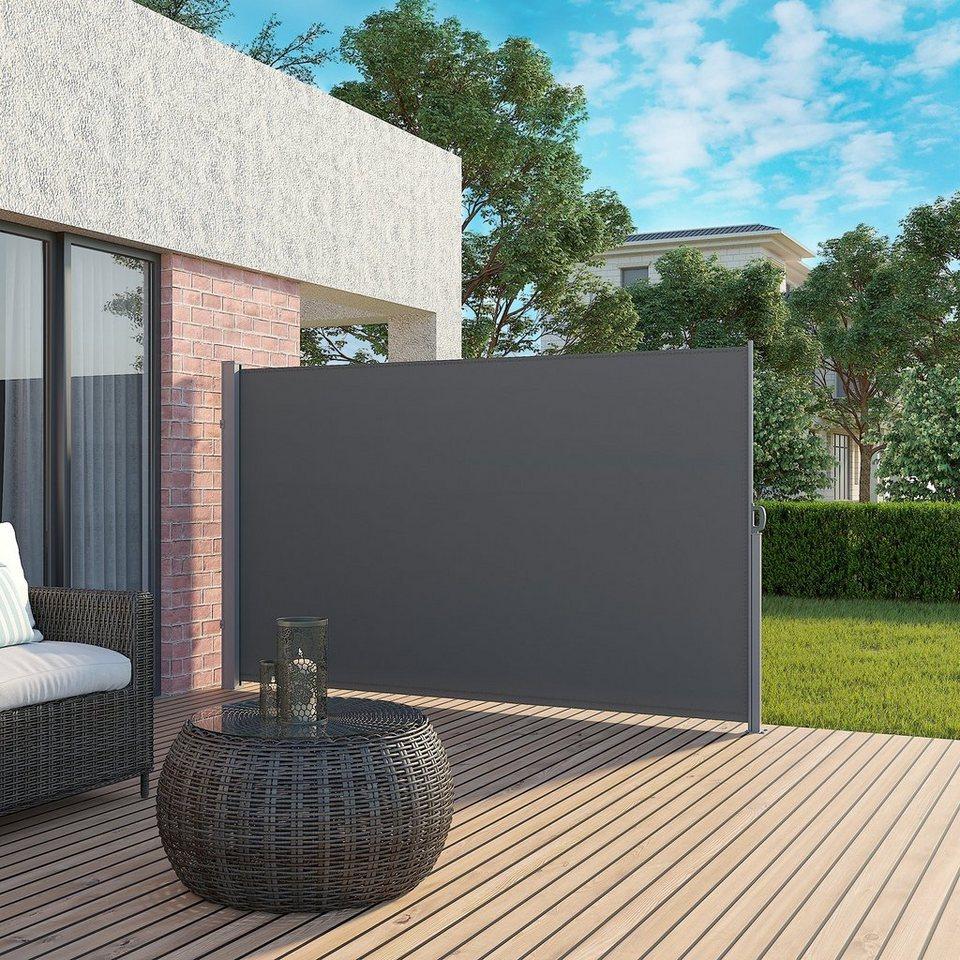 SONGMICS Seitenmarkise »GSA20TG« Sonnenschutz, 20 x 20 cm H x L,  Sichtschutz, Seitenrollo, Balkon, Terrasse, Garten, rauchgrau online kaufen    ...