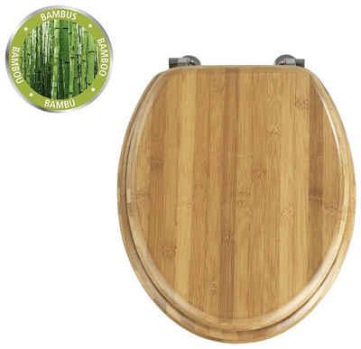 WENKO WC-Sitz »Bambus Dunkel« (1-St)