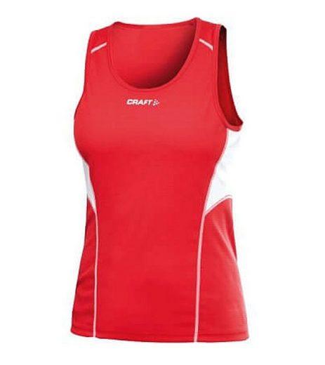 Craft Funktionsshirt »Craft Tank Top Funktions-Shirt sehr atmungsaktives Damen Sport-Top Fitness-Top Rot«