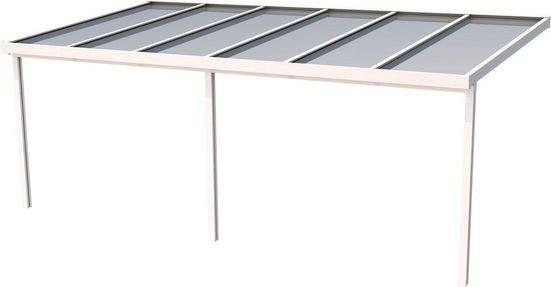 GUTTA Terrassendach »Premium«, BxT: 611x306 cm, Dach Polycarbonat gestreift weiß