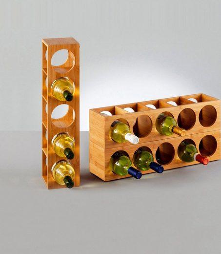 Zeller Present Weinregal »Bamboo«, für bis zu 5 Weinflaschen geeignet