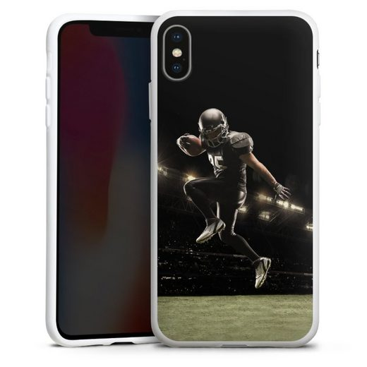 DeinDesign Handyhülle »Football spotsman player« Apple iPhone Xs Max, Hülle Fanartikel American Football Fußballer