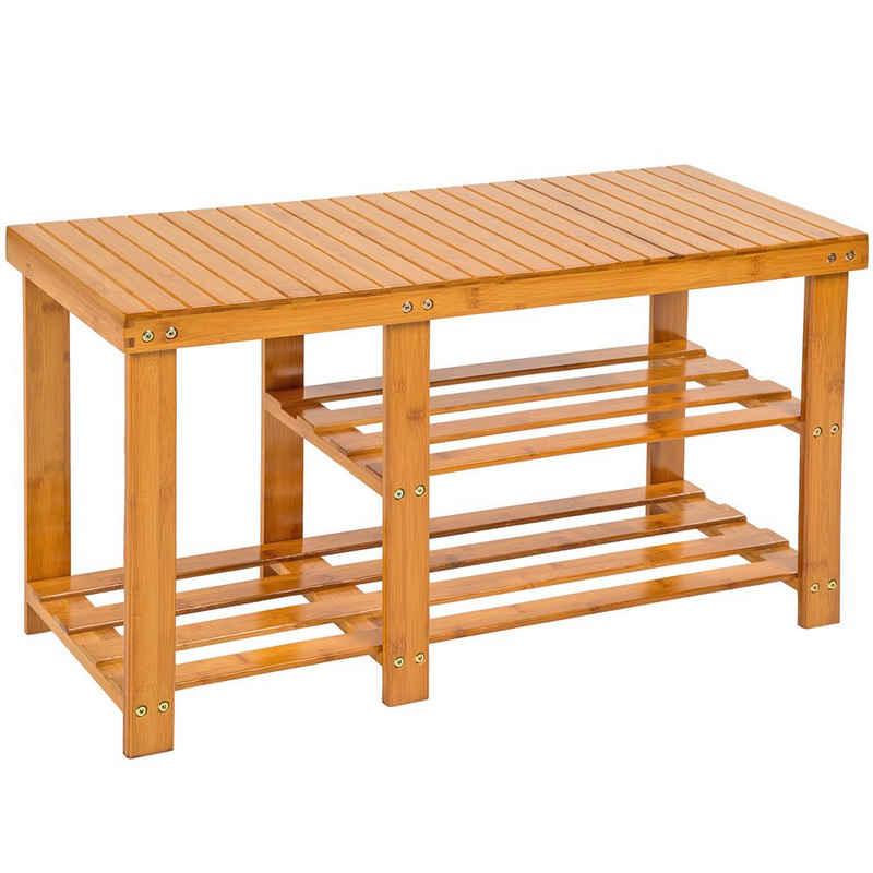 tectake Schuhregal »Bambus Schuhbank mit 2 Ebenen und Sitzbank mit«, 1-tlg.